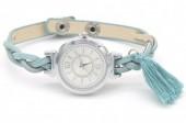 F-C5.4 W016-005 Trendy Watch with Tassel Blue