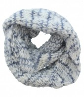 S-K2.2 Thick Winter Col Scarf White-Grey