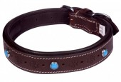 G-E16.1 MTDC-004 Leather Dog Collar Brown L 58x2.5cm