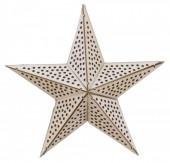 S-K1.3 Wooden Star with LED lights 20cm