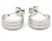 A-A21.2 E001-034 Stainless Steel Earrings 1cm Silver