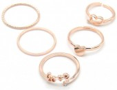 C-D5.2 R426-004R Ring Set 5pcs Rose Gold #17
