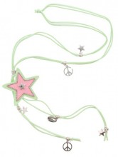 G-D21.1   Necklace Star Green N009-029 80cm