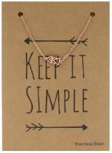 B1759-006 Stainless Steel Bracelet Triangles Rose Gold