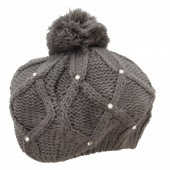 T-J5.2 Beanie with Crystals Grey