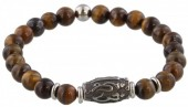A-F2.3 S. Steel Bracelet with Semi Precious Stones Brown