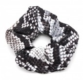 S-D6.4 H305-011 Scrunchie Snake Grey