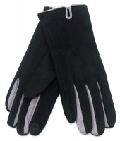 S-B4.2 GLOVE501-005D Soft Gloves Two-Tone Grey-Black