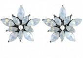 C-C8.4 E019-012 Crystal Flower Earrings 2x2cm