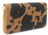 R-M7.2 WA531-002B PU Wallet Faux Cowhide 19x10cm Brown