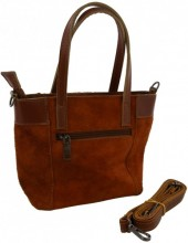 S-C1.2 BAGE-1021 Leather Bag 23x16x9cm Brown