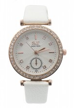 A-G6.2 W523-063 Quartz Watch 32mm with Crystals White