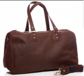 K-E7.1   BAG-921 Luxury Leather Travel-Sport Bag 47x32x16cm Brown