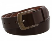 S-E6.1 Split Leather Belt 3.3x130cm Adjustable 113-120cm Brown