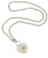 i-C12.1 N009-024 Green Ibiza Necklace with Shell and Star 95cm