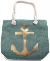 Y-B4.4 BAG530-001B Beach Bag Anchor Green