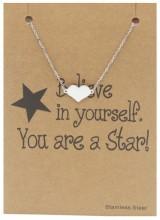 F-E21.3 B015-009 Stainless Steel Bracelet Heart Silver