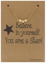 E-A16.1 B015-002 Stainless Steel Bracelet Stars Gold