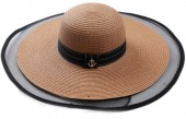 Q-P7.1 HAT504-006A Hat with Anchor Brown