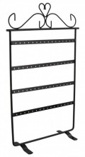 Y-C6.1 Metal Earring Display with 4 Layers for 32 Pairs 35x22cm Black