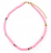 B-A8.1  N1925-007 Choker Surf Necklace 37 - 43cm Pink