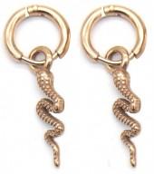 B-B18.3 E2011-008RG S. Steel 10mm Earring with 18mm Snake Rose Gold