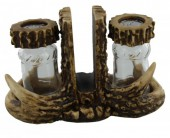 R-O7.2 #50953 Polyester Deer Antlers Pepper and Salt with Napkin Holder