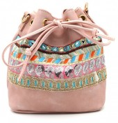 Y-C3.3 BAG012-010 Boho Style Bag Pink