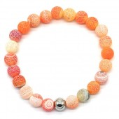 D-F4.3 B2121-001 Cracked Agate Bracelet Orange