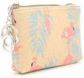 S-C5.1 WA1202-027 Keychain Wallet Flamingo 14x10cm Brown