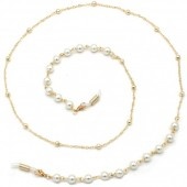 C-B23.2 GL548 Sunglass Chain Pearls Gold