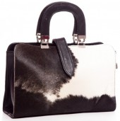 T-B1.1 BAG-570 Luxury Leather Bag 34x24x11cm Black with mixed Cowhide