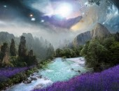 Q-E7.1  S846 Diamond Painting Set Fantasy Landscape 50x40cm