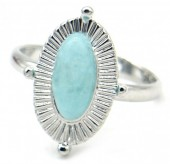 A-G8.2 R532-002S Adjustable Ring with Blue Stone Silver