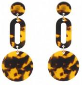 E127-002 Statement Earrings Brown