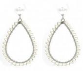A-D6.3 E1631-003B Earrings Pearls 4.5x2.5cm SilverA-D6.3 E1631-003B Earrings Pearls 4.5x2.5cm Silver