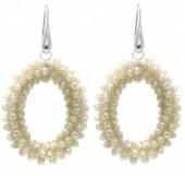 B-E16.1  E007-001 Facet Glass Beads 4.5x3.5cm BeigeB-E16.1  E007-001 Facet Glass Beads 4.5x3.5cm Beige
