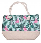BAG119-005C Beach Bag Flamingo Jungle
