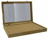 Y-E5.2 Jute Ring Display With Glass Top 35x24x5cm