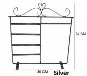 Q-H3.2 Metal Display for Earrings-Bracelets-Necklaces 34x30cm Silver