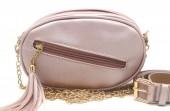 Y-B6.4 BAG534-003B Bum-Shoulder Bag with Tassel and Belt 20x15x5cm Pink