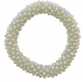 A-A16.7 B007-004 Facet Glassbeads Bracelet Light Green