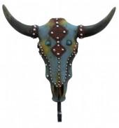 Coat Hanger Skull 21x21cm Blue