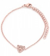 A-B19.3  B1842-010 Stainless Steel Bracelet on Giftcard with Leopard Rose Gold