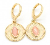 D-A7.2 E426-001 Earrings 10mm with 15mm Charm Gold
