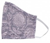 S-I3.4 Face Mask Cotton  - Washable - Embroidered - Purple