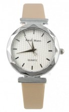 E-D4.5 Trendy Watch with PU Strap Beige  25MM