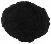 Y-B4.5 Soft Fake Fur Hat with Flower Black