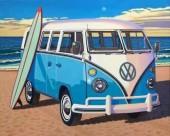 Q-E8.2 GM1333 Diamond Painting Set VW Van 50x40cm