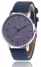 A-C6.7  Watch with Glitters and PU strap 40mm Blue